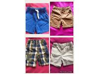 4 Pairs of Boys Shorts 12-18 Months