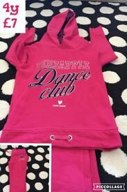 Pineapple dance club jogging suit 4y