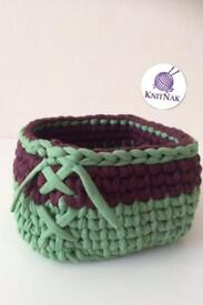 Crocheted basket