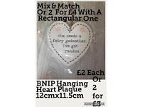 BNIP Who Needs A Fairy Godmother Heart Plaque