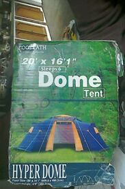 Dome Tent 6-berth & Macpac Minaret lightweight 2 person tunnel tent suitable for 3 ...