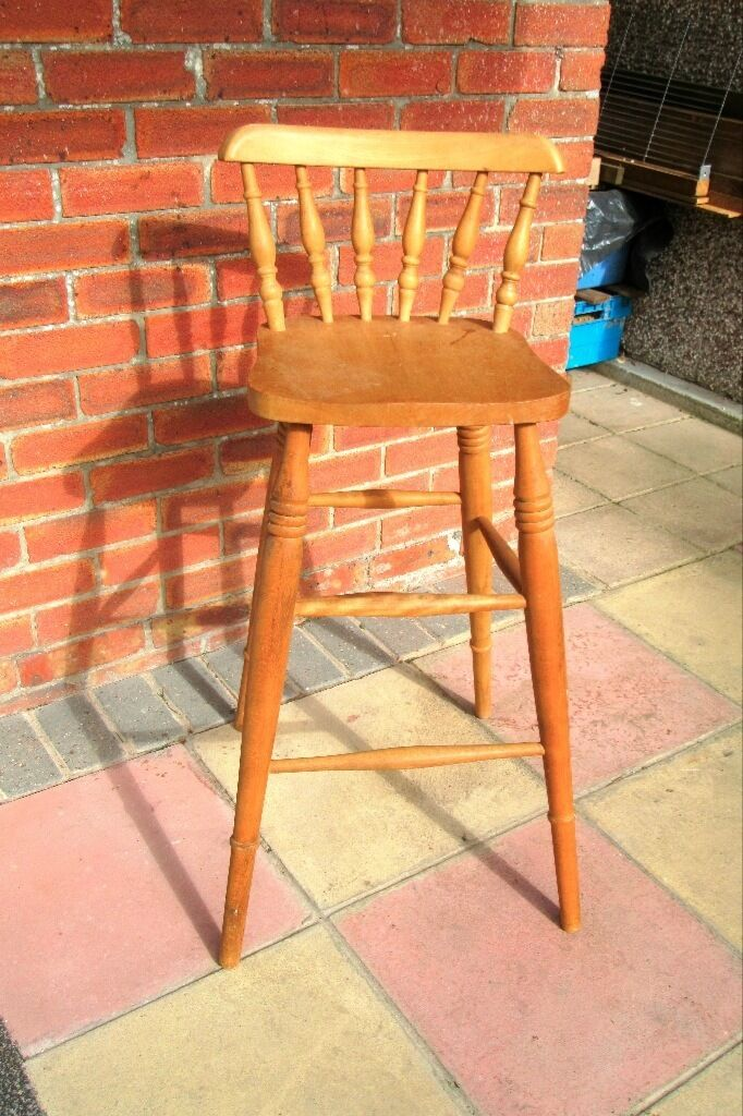 Pine High Chair. & Pine High Chair. | in Calne Wiltshire | Gumtree