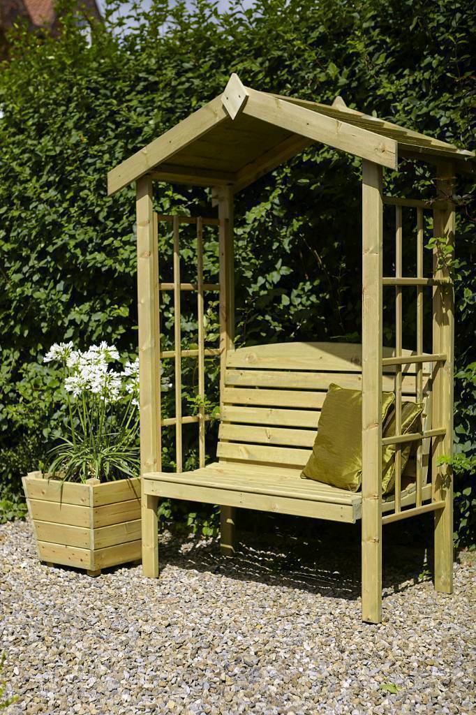 Beautiful Looking New Wooden Garden Arch Arbour Seat Bench With Trellis