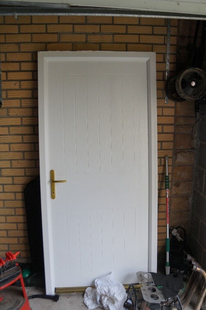 Top Quality Composite House Door Or Garage Access Door In White. Not PVC Or  Timber
