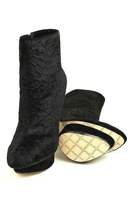 L.a.m.b. Women Noss Black Lamb Pumps Mid Calf Boot Platform Heels Designer