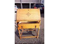 2 Lovely Vintage Wooden Writing Bureaus FREE DELIVERY CENTRAL EDINBURGH