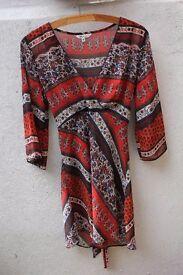 M&Co patterned blouse size 10