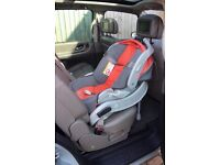 Baby Car Cradle system, and removable clip in carrier