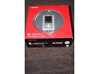 Toshiba gigabeat MP3 player. Sticky front button. See description.