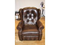 2x Lay-z-Boy fully reclining chairs finished in high quality brown leather