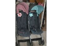 """Cosatto Twin Double Pushchair """"Sis & Bro"""""""