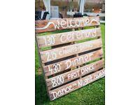 Wooden pallet- wedding decoration