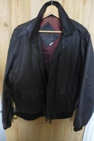 Men's Genuine Vintage LEATHER JEEP Jacket. From the Jeepers Jamboree Lake Tahoe a good few years ago