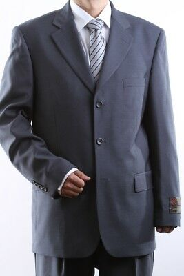 MEN'S SINGLE BREASTED 3 BUTTON GRAY DRESS SUIT SIZE 38R, PL-60513-GRE