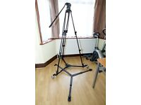 MANFROTTO 525MVB with 503 head and MBAG90P and 181B Auto Dolly