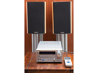 Onkyo CR-715DAB Mini System with pair of Acoustic Energy Speakers and Alphason speaker stands