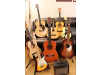 acoustic and clssical guitars for sale