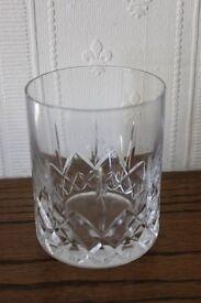 Cut glass tumbler