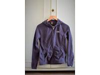 Purple north face fleece with hood