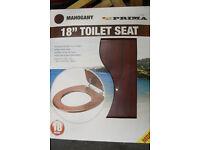 mahogany style toilet seat new