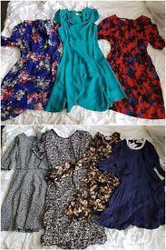 7 'Louche' dresses from JOY, size 12-medium