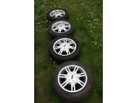 4 Original Ford Wheels with Tyres for Ford Fiesta
