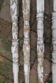 vintage wooden stair spindles
