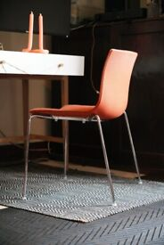 Arper Catifa Chairs - RRP £489 EACH - 6 Available Rustic Orange dining home office Eames DSW 💡
