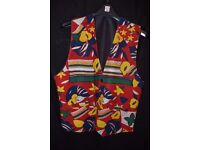 Men's Clothes: Vintage Colourful Men's Large Waistcoat
