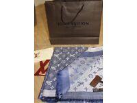 Luxury Louis Vuitton Denim blue colour Scarf /Shawl – brand new