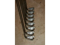 Ping ISI BeNi 3-PW lovely condition set - matching serials - JZ stiff.