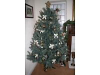 """Artificial Christmas Tree in good """"Used"""" condition : Colour coded for easy setup see photos"""
