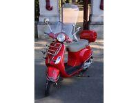 RED VESPA PIAGGIO LX 125CC SCOOTER 2005 GREAT CONDITION
