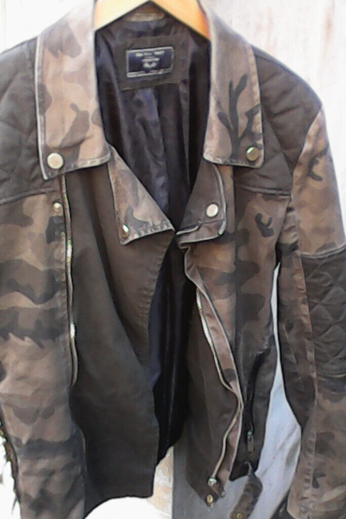 dc77876c Zara man denim couture Camo biker jacket | in Hove, East Sussex | Gumtree