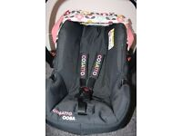 Cosatto Ooba baby car seat with raincover - pink (Kimono) CAN POST