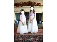 2 Bridesmaids dresses (aged 5-8)