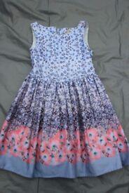 Girls Grey/Pink floral dress