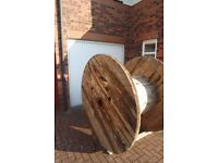 giant wooden cable reel, ideal for large garden/pub garden