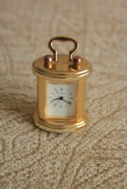 Miniature Wellington Brass Clock