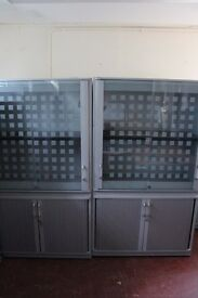 grey office display cabinets ONLY £75 PER EACH