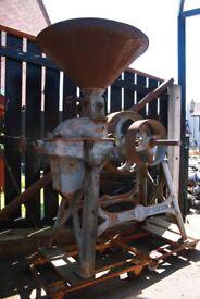 old farm barrley grinder