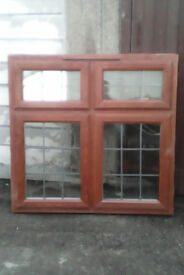 Light oak finished upvc window,...
