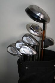LADIES RAM CONCEPT II 4-SW IRON SET + BAG, DRIVER, 9 WOOD & X2 PUTTERS