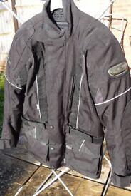 "frank thomas aqua pore motorcycle jacket size S 34"" / 36"""