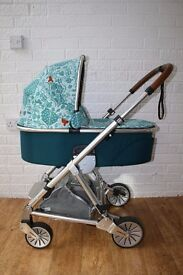 teal Mamas and Papas Urbo pram pushchair - Donna Wilson Fox CAN POST