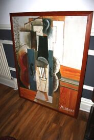 Large Picasso Print In Stained Frame