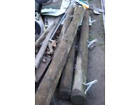 4 x old telephone posts cut-offs 2.2-2.5 meters.