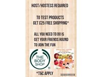 Would you like £25 free shopping at the body shop?