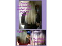 Professional luxury hair extensions useing only the finest quality luxury Russian/Mongolian hair
