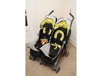 Maclaren twin techno double pushchair - excellent condition